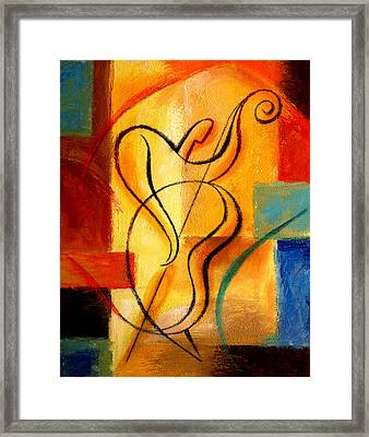 Jazz Fusion Framed Print by Leon Zernitsky