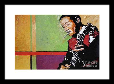 Jazz Musician Framed Prints