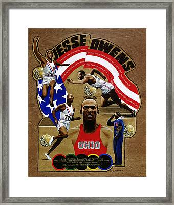 Jesse Owens Framed Print by Gary Thomas