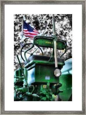 John Deere American Tractor Framed Print by Ben Michalski