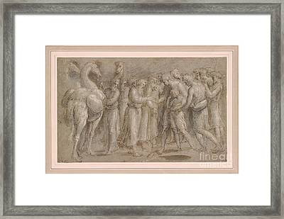 Joseph Sold Into Slavery By His Brethren Framed Print