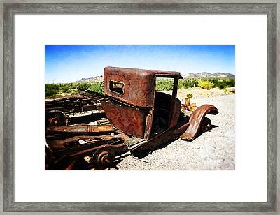 Junkyard Daddy Framed Print by Beverly Guilliams