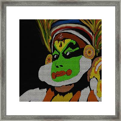 Kathakali Portrait Framed Print by Art Spectrum