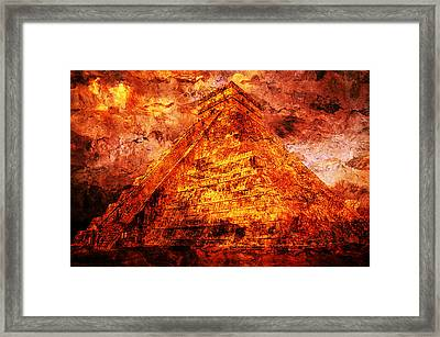Kukulcan Pyramid Framed Print