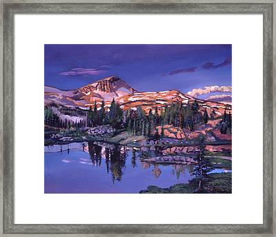 Lake In Shades Of Purple Framed Print