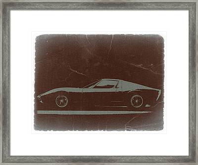 Lamborghini Miura Framed Print by Naxart Studio