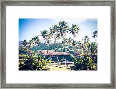 Lanakila 'ihi'ihi O Iehowa O Na Kaua Church Keanae Maui Hawaii Framed Print