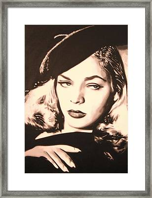 - Lauren Bacall - Framed Print
