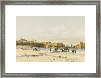 Le Pays Israel Framed Print by MotionAge Designs