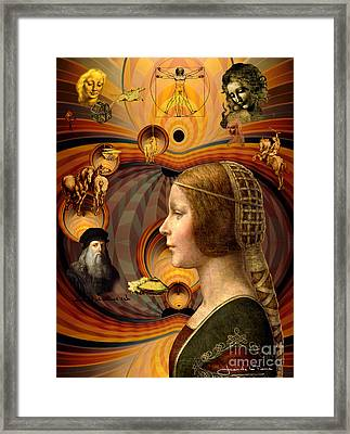 Leonardo's Dream Framed Print