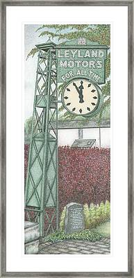 Leyland Motors Clock Kendal Cumbria Framed Print by Sandra Moore
