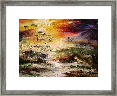 Framed Print featuring the painting  Light Comes by Rushan Ruzaick