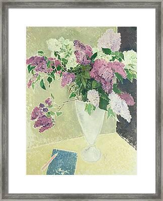 Lilacs Framed Print by Glyn Warren Philpot