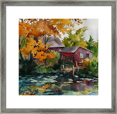 Lily Pond Framed Print by Art Scholz