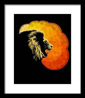 Lion Art Framed Prints