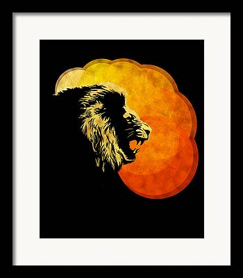 Serengeti Africa Drawing Framed Prints