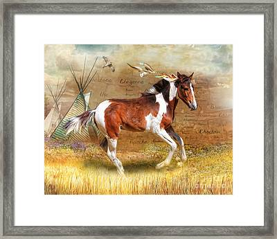 Framed Print featuring the digital art  Little Apache by Trudi Simmonds