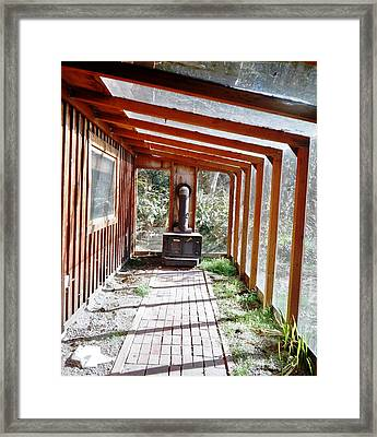 Log Cabin Sunroom Framed Print