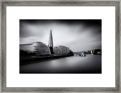 London City And The Shard.  Framed Print