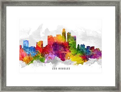 Los Angeles California Cityscape 13 Framed Print