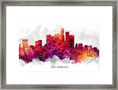 Los Angeles California Cityscape 14 Framed Print