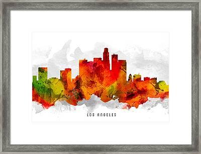 Los Angeles California Cityscape 15 Framed Print