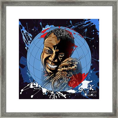 Framed Print featuring the painting  Louis. by Andrzej Szczerski