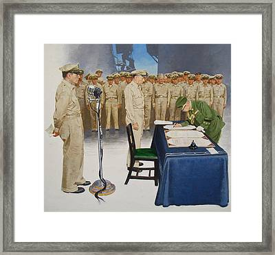 Framed Print featuring the painting  Macarthur by Cliff Spohn