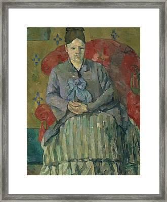 Madame Cezanne In A Red Armchair  Framed Print