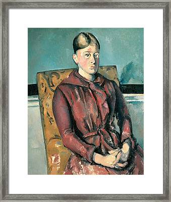 Madame Cezanne In A Yellow Armchair  Framed Print