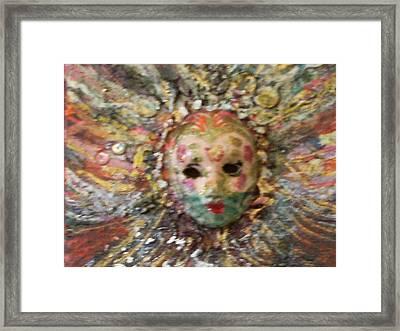 Mardi Gras Mask Dedicated To Linda Lane-bloise  Framed Print by Anne-Elizabeth Whiteway