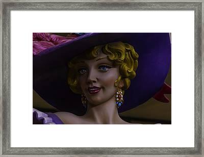 Mardi Gras Woman Framed Print