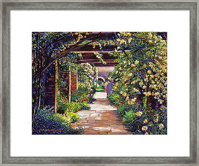 Memory Lane Framed Print by David Lloyd Glover