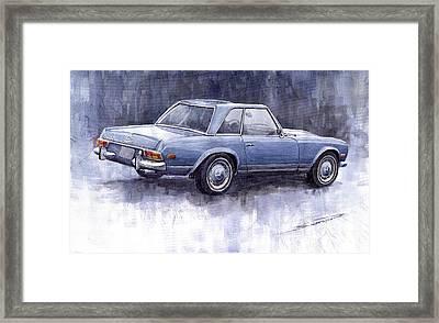 Mercedes Benz 280 Sl W113 Pagoda  Framed Print