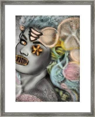 Mermaids Dont Speak Framed Print by Pat Carafa