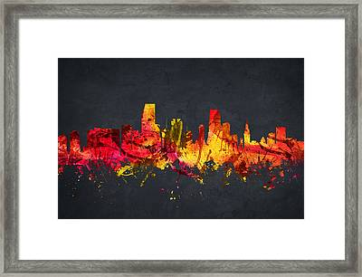 Miami Cityscape 07 Framed Print by Aged Pixel