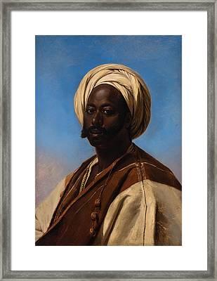 Middle Eastern Muslim Man Framed Print by Eugene Verboeckhoven