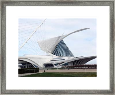 Framed Print featuring the photograph  Milwaukee Art Museum by Kay Novy