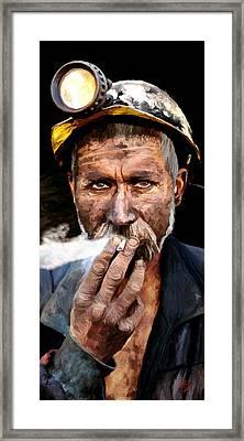 Miner Framed Print by James Shepherd