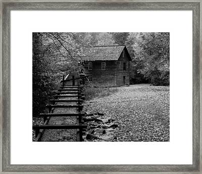 Mingus Mill - Black And White Framed Print by Fred Baird