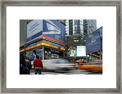 -money Sex And Speed Framed Print