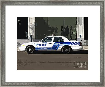 Montreal Police Car Poster Art Framed Print by Reb Frost