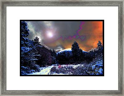 Moonrise On Kiva Mountain Framed Print by Susanne Still