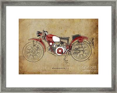 Moto Guzzi Falcone 1950 Framed Print by Pablo Franchi