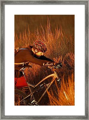 Mountain Bike Framed Print by Viktor Savchenko
