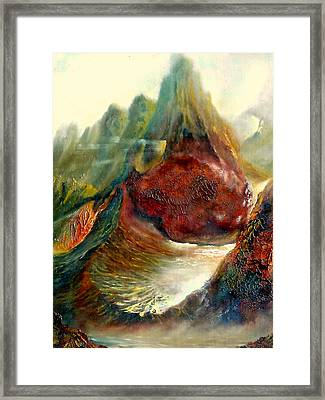 Mountains Fire Framed Print by Henryk Gorecki