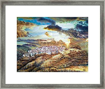 Moving Clouds Framed Print
