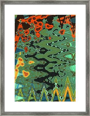 Mprints - Patchwork Garden Framed Print