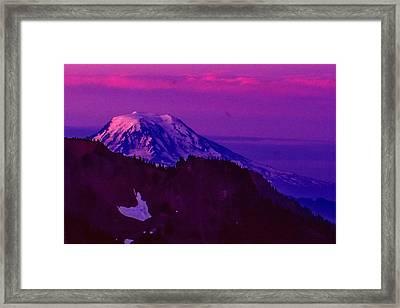 Mt. Rainier Sunrise Framed Print
