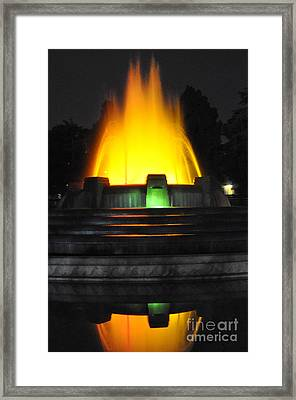 Mulholland Fountain Reflection Framed Print